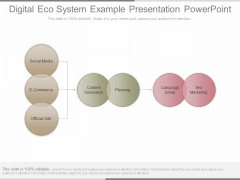 Digital Eco System Example Presentation Powerpoint