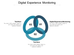 Digital Experience Monitoring Ppt PowerPoint Presentation Ideas Slides Cpb
