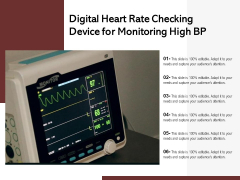 Digital Heart Rate Checking Device For Monitoring High BP Ppt PowerPoint Presentation Summary Outline PDF