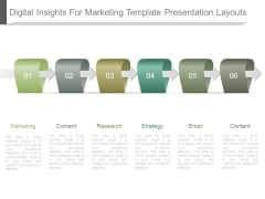 Digital Insights For Marketing Template Presentation Layouts