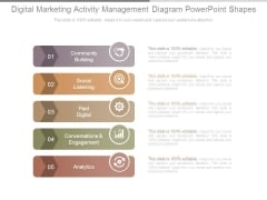 Digital Marketing Activity Management Diagram Powerpoint Shapes