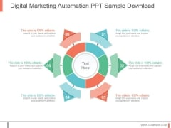 Digital Marketing Automation Ppt Sample Download