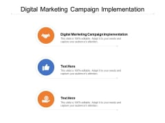 Digital Marketing Campaign Implementation Ppt PowerPoint Presentation Introduction Cpb