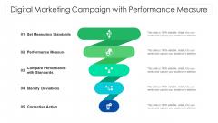 Digital Marketing Campaign With Performance Measure Ppt PowerPoint Presentation File Portfolio PDF