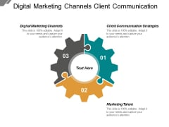 Digital Marketing Channels Client Communication Strategies Marketing Talent Ppt PowerPoint Presentation Gallery Deck