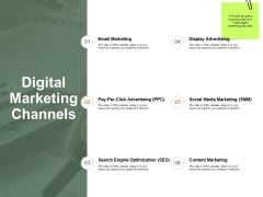 Digital Marketing Channels Email Marketing Ppt Powerpoint Presentation Outline Smartart