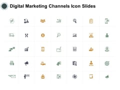 Digital Marketing Channels Icon Slides Compare Ppt Powerpoint Presentation Visual Aids