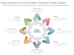 Digital Marketing Circle Template Powerpoint Slide Designs