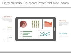 Digital Marketing Dashboard Powerpoint Slide Images
