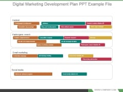 Digital Marketing Development Plan Ppt Example File