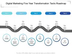 Digital Marketing Five Year Transformation Tactic Roadmap Rules