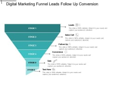 Digital Marketing Funnel Leads Follow Up Conversion Ppt PowerPoint Presentation Pictures Graphics Design