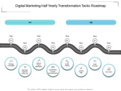 Digital Marketing Half Yearly Transformation Tactic Roadmap Portrait