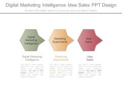 Digital Marketing Intelligence Idea Sales Ppt Design