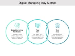 Digital Marketing Key Metrics Ppt PowerPoint Presentation Pictures Inspiration Cpb