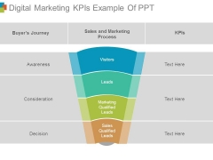 Digital Marketing Kpis Example Of Ppt