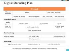 Digital Marketing Plan Ppt PowerPoint Presentation Portfolio Elements