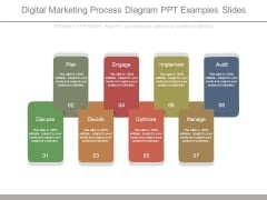Digital Marketing Process Diagram Ppt Examples Slides