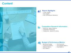 Digital Marketing Progress Report Content Research Information Ppt Inspiration Guide PDF