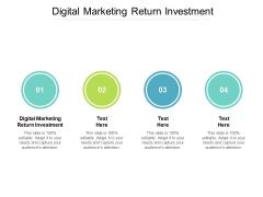 Digital Marketing Return Investment Ppt PowerPoint Presentation Information Cpb