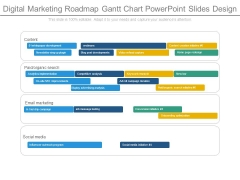 Digital Marketing Roadmap Gantt Chart Powerpoint Slides Design