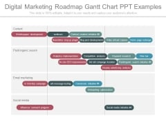 Digital Marketing Roadmap Gantt Chart Ppt Examples