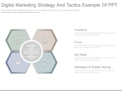 Digital Marketing Strategy And Tactics Example Of Ppt