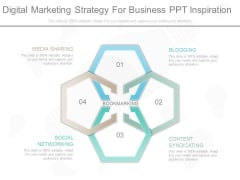 Digital Marketing Strategy For Business Ppt Inspiration