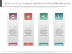 Digital Marketing Strategy For Ecommerce Powerpoint Templates