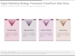 Digital Marketing Strategy Framework Powerpoint Slide Show