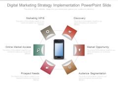 Digital Marketing Strategy Implementation Powerpoint Slide