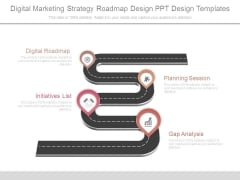 Digital Marketing Strategy Roadmap Design Ppt Design Templates