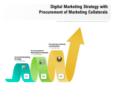 Digital Marketing Strategy With Procurement Of Marketing Collaterals Ppt PowerPoint Presentation Show PDF