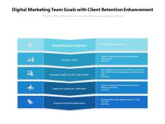 Digital Marketing Team Goals With Client Retention Enhancement Ppt PowerPoint Presentation Slides Structure PDF