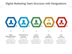 Digital Marketing Team Structure With Designations Ppt PowerPoint Presentation Icon Images PDF