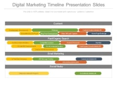 Digital Marketing Timeline Presentation Slides