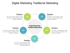 Digital Marketing Traditional Marketing Ppt PowerPoint Presentation Slides Themes Cpb
