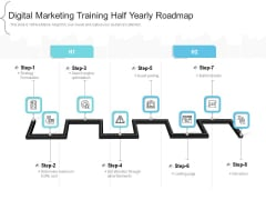 Digital Marketing Training Half Yearly Roadmap Slides