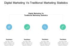 Digital Marketing Vs Traditional Marketing Statistics Ppt PowerPoint Presentation Summary Guidelines Cpb