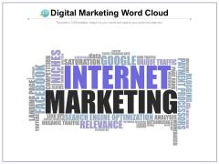 Digital Marketing Word Cloud Ppt PowerPoint Presentation Model Icon