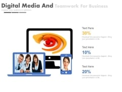 Digital Media And Teamwork For Business Powerpoint Slides