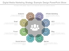 Digital Media Marketing Strategy Example Design Powerpoint Show