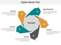 Digital Media Plan Ppt PowerPoint Presentation Outline Example Topics Cpb