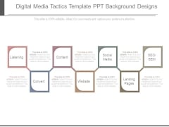 Digital Media Tactics Template Ppt Background Designs