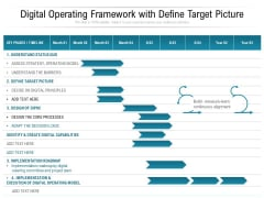 Digital Operating Framework With Define Target Picture Ppt PowerPoint Presentation Professional Tips PDF
