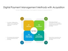Digital Payment Management Methods With Acquisition Ppt PowerPoint Presentation Pictures Rules V