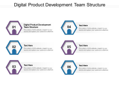 Digital Product Development Team Structure Ppt PowerPoint Presentation Show Example Introduction Cpb Pdf