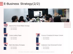 Digital Products And Services E Business Strategy Social Ppt Ideas Slideshow PDF