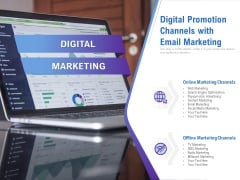 Digital Promotion Channels With Email Marketing Ppt PowerPoint Presentation Show Tips