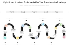 Digital Promotional And Social Media Five Year Transformation Roadmap Designs